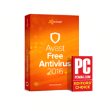 Avast 2016 PC Mag Editors Choice Award